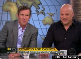 Dennis Quaid and Michael Chiklis appeared in CBS This Morning to discuss their new show, 'Vegas', premiering this fall.