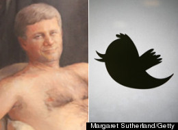 Twitter has had a field day reacting to Margaret Sutherland's nude painting of Prime Minister Stephen Harper. (Margaret Sutherland/Getty)