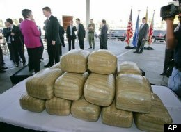 160 bales of marijuana were pulled out of the ocean on Sunday.