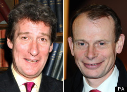 Newsnight presenter Jeremy Paxman and political journalist Andrew Marr