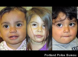 Three abandoned children -- all ages 3 or younger -- were found in a shed in Portland on Thursday.