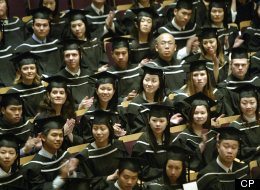 Graduating students in Commerce and Business Administration wait for their degree at a UBC Congregation ceremony in Vancouver. John Lehmann/Globe and Mail