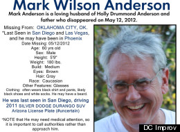 Mark Anderson has been missing since May 12.