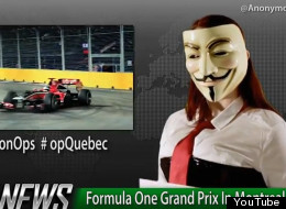 More than 130 people who bought tickets to next week's Formula One race in Montreal have had their personal information posted online, seemingly by the hacker collective Anonymous. (YouTube)