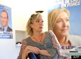 Marine Le Pen à son siège de campagne à Hénin-Beaumont
