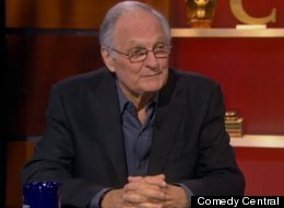 Actor Alan Alda appeared on The Colbert Report.