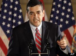 Rep. David Rivera (R-Fla.) speaks to reporters in 2010.