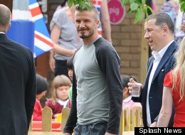 David Beckham dropped in to surprise schoolchildren