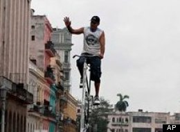 Felix Guirola rides to work in style on this 13-foot bad boy.