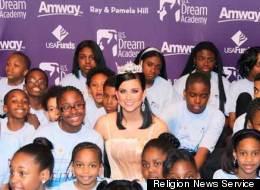 Miss America Laura Kaeppeler works with Mentoring Children of Prisoners program