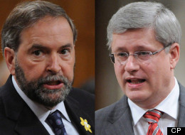 NDP Leader Thomas Mulcair says his party will be there to hold him to account if Prime Minister Stephen Harper doesn't take the necessary steps to address another economic crisis