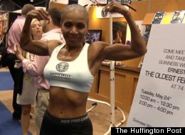 Ernestine Shepherd at the Guinness World Record Event