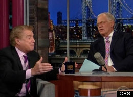 Regis Philbin tries to convince David Letterman to do a weekly television show with him