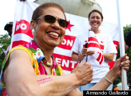 D.C. Del. Eleanor Holmes Norton and her new temporary tattoo on Flag Day.