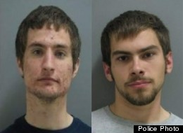 Joseph Grabenhofer (left) and Pawel Loboz (right) in an Orland Park police photo.