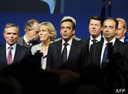 Les cadres de l'UMP lors d'un meeting du parti conservateur