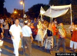 A new Torah scroll was paraded through the streets of Zichron Ya'akov until it founds its new home at Kehillat v'Ahavta. (http://kbyonline.org/)