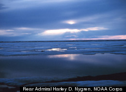 Melting ice on the Beaufort Sea in the Arctic. The summer extent of the ice reached its second lowest point since 2007 on Sept. 9, 2011, since the record low of 2007, according to the National Snow and Ice Data Center.