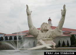 A towering roadside Jesus statue destroyed two years ago in a lightning fire will be replaced later this summer in southwest Ohio.  The previous statue was ruined when it was hit by lightning two years ago this month. It depicted a waist-up Jesus with arms uplifted, drawing the nickname