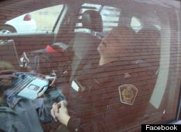A photo of a sleeping Niagara police officer has gone viral.