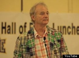 Bill Murray inducted into the South Atlantic League Hall of Fame.