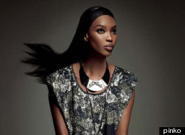 Naomi Campbell stars in Pinko's Fall 2012 campaign ad.
