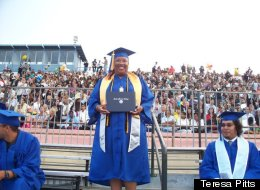 Teresa Pitts went back to school 26 years after dropping out of college and graduated with honors from UCLA.