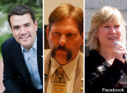 Primary challengers from left to right, Eric Weissman is running for U.S. House District 2, Rep. Randy Baumgardner is running for state Senate District 8, while Rep. Marsha Looper is running for state House District 19