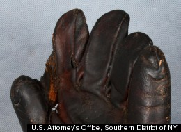 The $750 19th century baseball glove Irving Scheib tried to sell as Babe Ruth's to an undercover investigator.