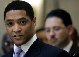 Rep. Cedric Richmond (D-La.), the Democrats' pitcher and MVP of the annual congressional baseball game.