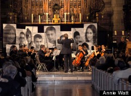 The Polyphony Youth Orchestra with conductor Felix Krieger at Saint Vincent Ferrer Church in New York City in October 2011. Photo credit Annie Watt.
