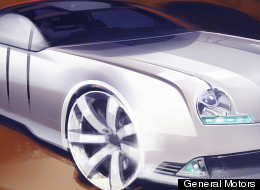 A General Motors designer took a sketch drawn on a napkin by a local child and turned it into this futuristic looking car.