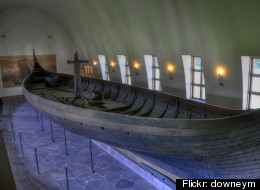 An antique viking ship similar to the one in the Chicago Park District's care.