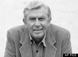 Actor Andy Griffith talking about his future television plans in Los Angels, March 23, 1987. (AP Photo/Nick Ut)