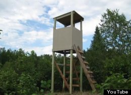 A typical deer stand.