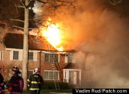 An April 2011 fire destroys part of the Hamilton House apartment complex in Westfield, N.J.