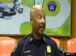 Detroit Police Chief Ralph Godbee held a press conference Monday, July 8, 2012 to address a prior incident in which 24-year-old Adaisha Miller embraced off-duty Officer Issac Parrish from behind while at a fish fry at his home, causing his service weapon to fire and kill her.