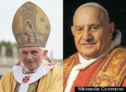 Pope Benedict and Pope John XXIII