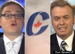 Sun News hosts Ezra Levant and Brian Lilley both went after Tony Clement and the Conservative party on Wednesday night for funding a centre for communist hero, and Canadian-born doctor, Norman Bethune. (Sun News/CP)