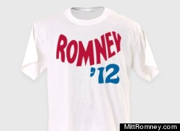 A vintage collection Romney 2012 unisex white tee is one of several retro Romney items now sold on the campaign's website.