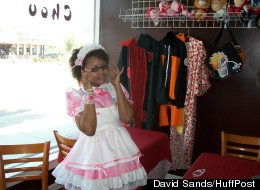 Kei-Chan poses for the paparazzi at the Chou Anime Cafe in Detroit. (David Sands/HuffPost)