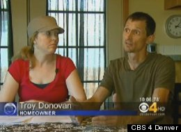 Troy Donovan and his wife Danya in their home in Littleton, Colorado.