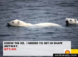 One of arcticready.com's user submitted ads designed to denounce Shell's expansion efforts to the Arctic. (arcticready.com)