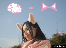 Japanese company Neurowear has made Necomimi, cat ears that react to readings from a user's brain waves.