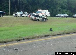 Alan Fanning captured a dramatic head-on collision on his cellphone in July.