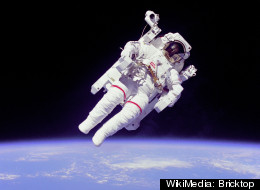 This NASA photo shows astronaut Bruce McCandless II, mission specialist, in space in February 1984.