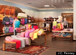 One of the new Arizona Jeans women's shops at J.C. Penney.