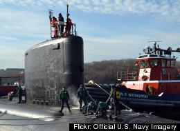 USS California pulls pierside at Naval Submarine Base New London Groton Conn.