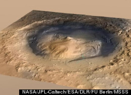 NASA's one-ton Curiosity rover will land in August 2012 near the foot of Mount Sharp inside Mars' Gale Crater.