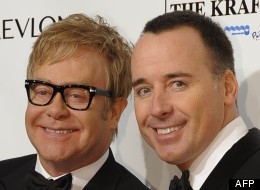Elton John et son compagnon, David Furnish, à New York le 18 octobre 2012